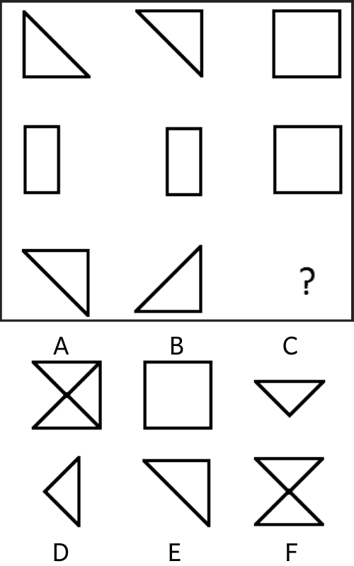Câu hỏi test iq 16